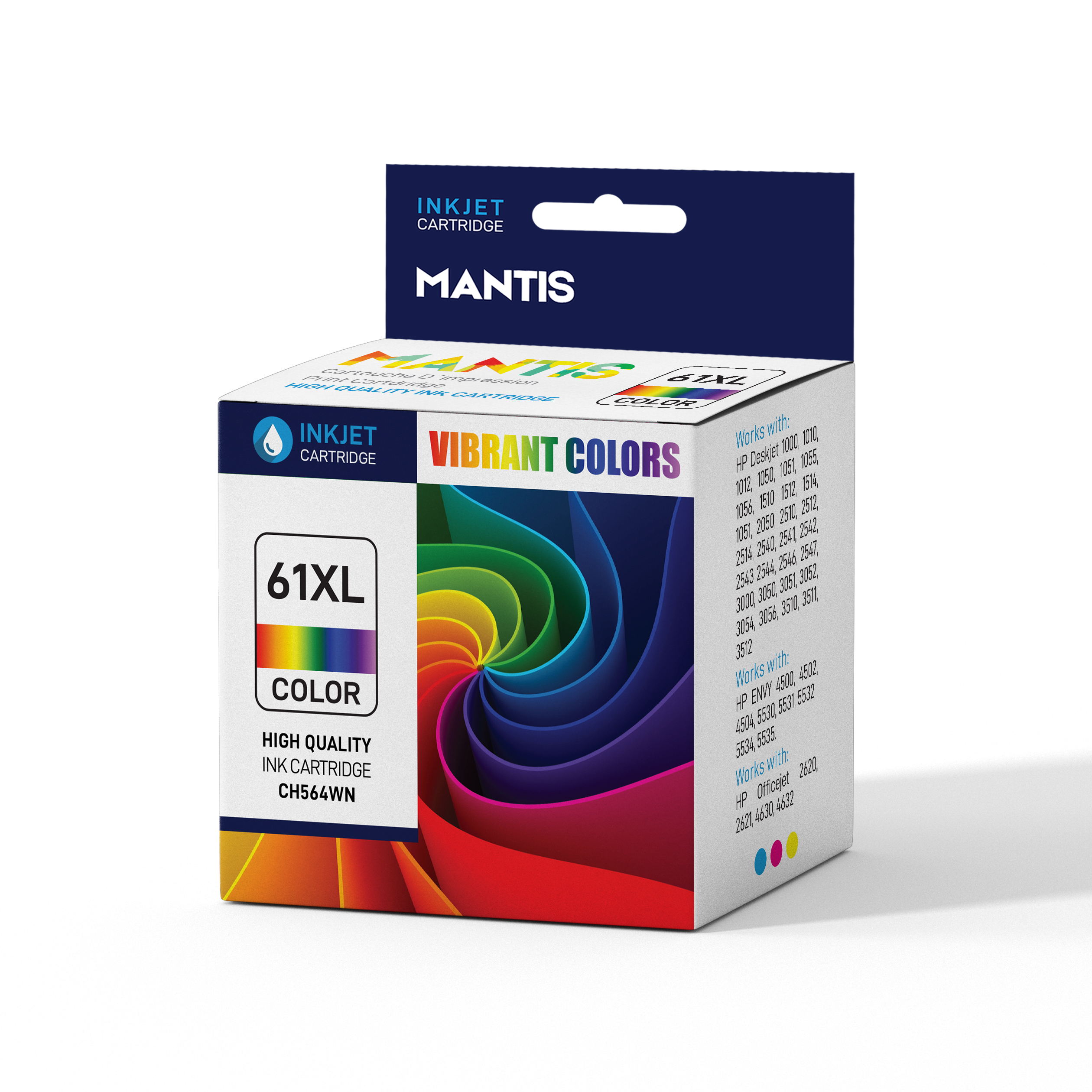 High Yield for HP Deskjet 1000 1010 1012 CH563WN HP 61XL Black Ink Cartridge